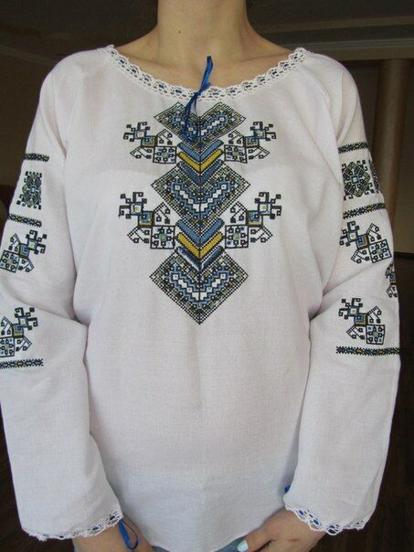Ukrainian embroidered shirt for ladies, blouse, sorochka, vyshyvanka