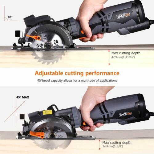 "6 Blades TACKLIFE Circular Saw with Metal Handle Laser Guide, 4-3//4/"" /& 4-1//2"""