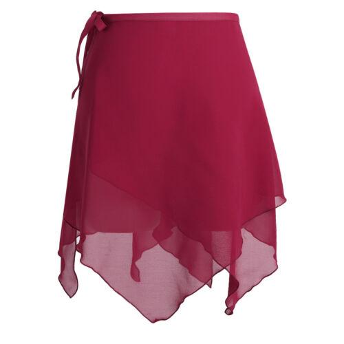 Girls Adult Ballet Leotard Wrap Scarf Skate Tutu Skirt Dance Skate Costume Dress