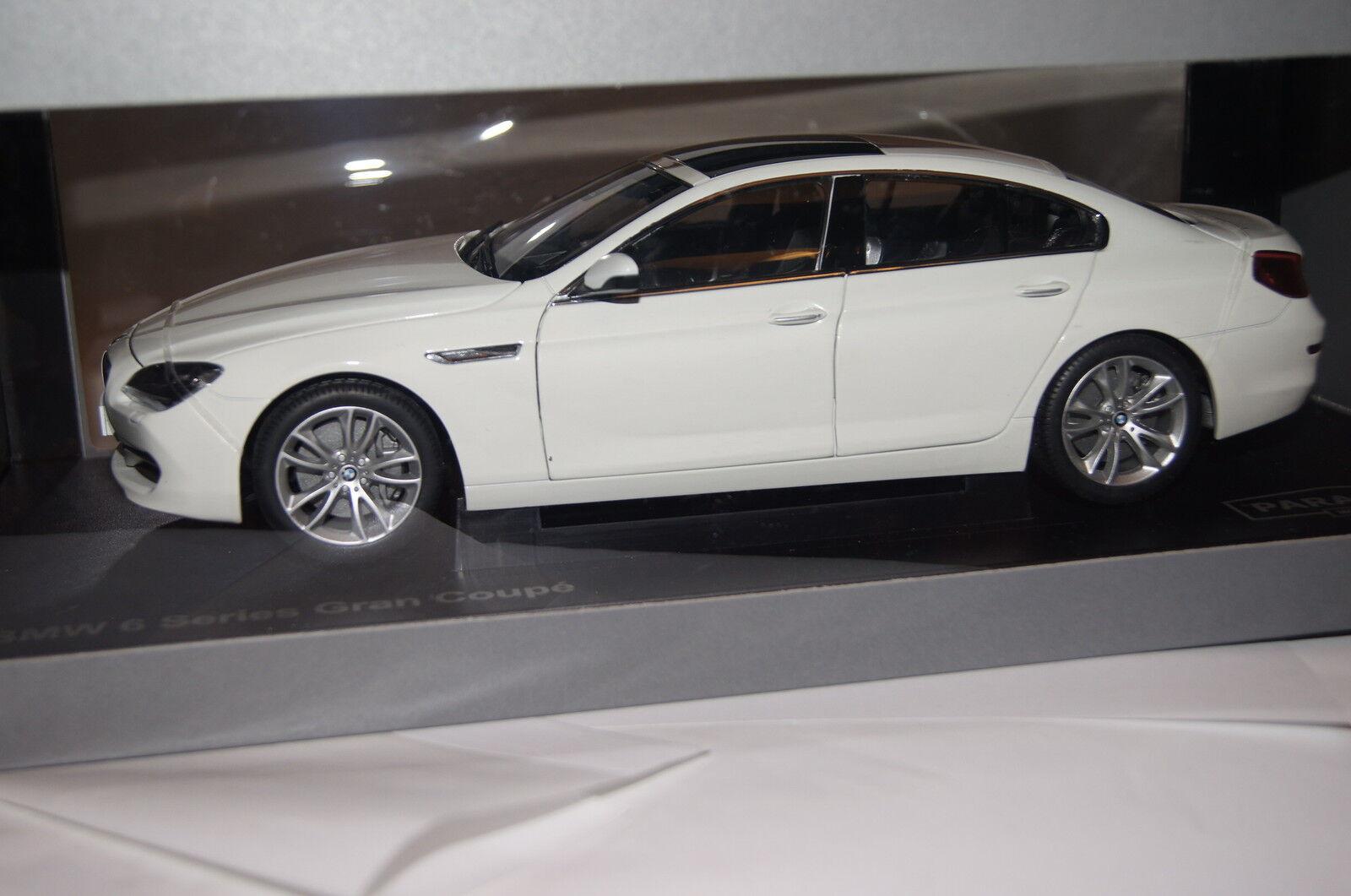BMW 6er Gran Coupé f06 2013 Alpine Blanc 1 18 Paragon NOUVEAU & NEUF dans sa boîte 97032