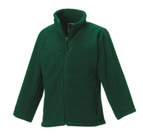 Russell Jerzees Boys Girls Childs RED GREEN or BLACK Full Zip Fleece to Clear!