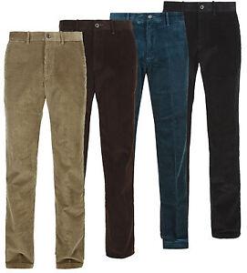 Nouvelle-Chemise-en-velours-cotele-cordon-coton-formelle-Casual-Pantalon-Avec-Ceinture-Taille-30-50
