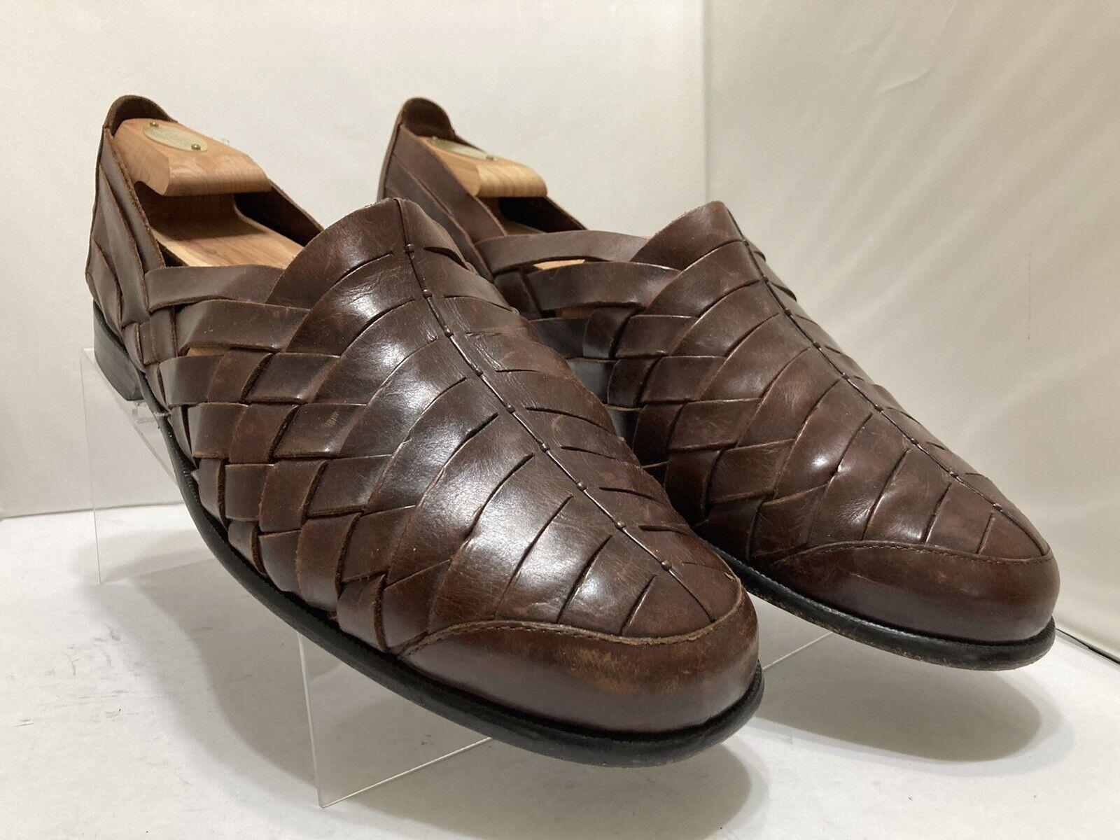 Cole Haan Men's Fisherman Slip On Sandals Size 12D Saddle Brown Leather