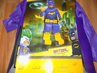 NEW Costume GIRLS LEGO BAT GIRL DC BATMAN BATGIRL SIZE SMALL 4-6