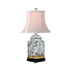 Chinese-Porcelain-Scallop-Ginger-Jar-Table-Lamp-Bird-Floral-Motif-22-034