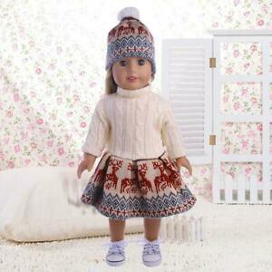 For-18-Inches-Girl-Our-Generation-Doll-Sweater-Dresses-Set-Hat