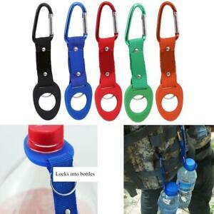 Hook Waist Belt Secure Tactical Carabiner Clip Water Drink Bottle Holder Stable