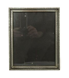 Antique-Art-Nouveau-Ornate-Silver-Gesso-Picture-Frame-Fits-10-034-x-8-034
