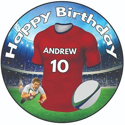 Offen Personalisiert Geburtstags Kuchen Aufsatz 20.3cm Glasur Rugby Shirt The Reds HeißEr Verkauf 50-70% Rabatt Kochen & Genießen