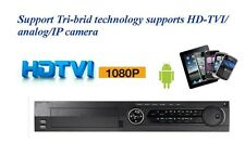 32 ch H.264 TriBrid DVR: HD-TVI/Analog/IP 30fps/720p 15fps/1080p + 8 IP channels