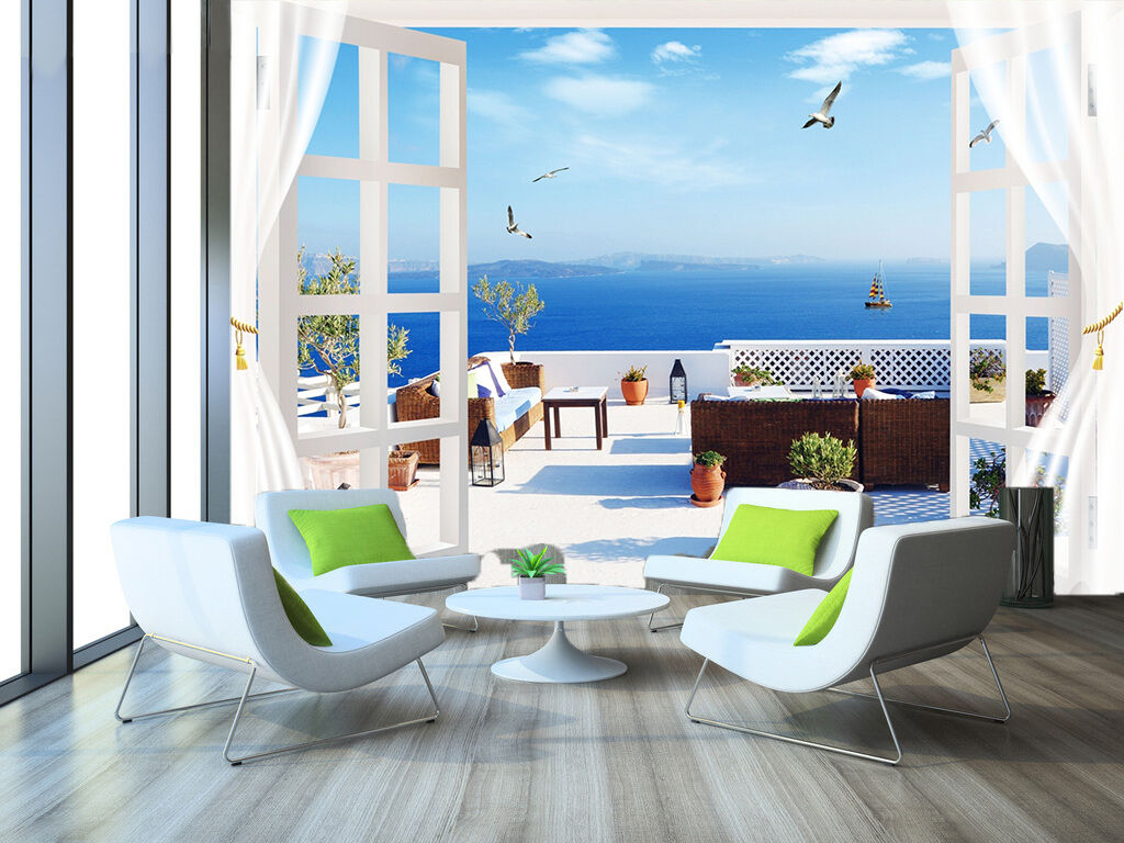 3D Window Balcony Scenery 41 Paper Wall Print Wall Decal Wall Deco Indoor Murals