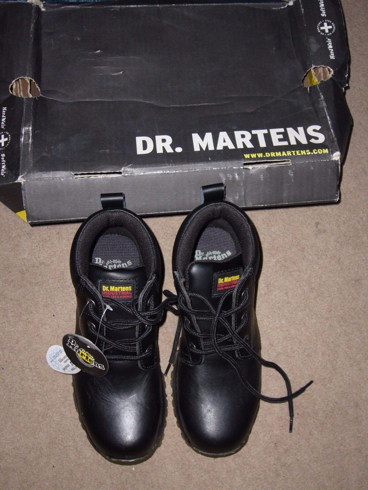 DR MARTENS WORK WORK MARTENS 0028 BLACK LEATHER INDUSTRIAL Stiefel Damenschuhe STEEL MIDSOLE & TOE 97d34f