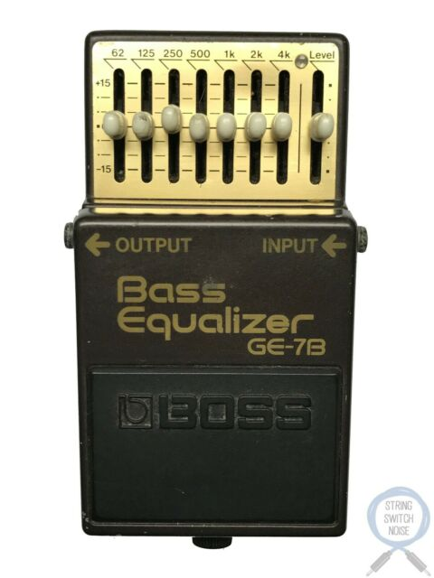 Boss GE-7B, Bass EQ, 7 Band, Made In Japan, 1990, Vintage Guitar Effect Pedal
