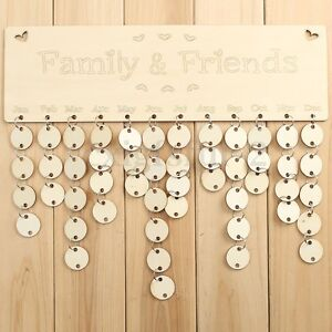 wooden family birthday reminder plaque sign board calendar tags