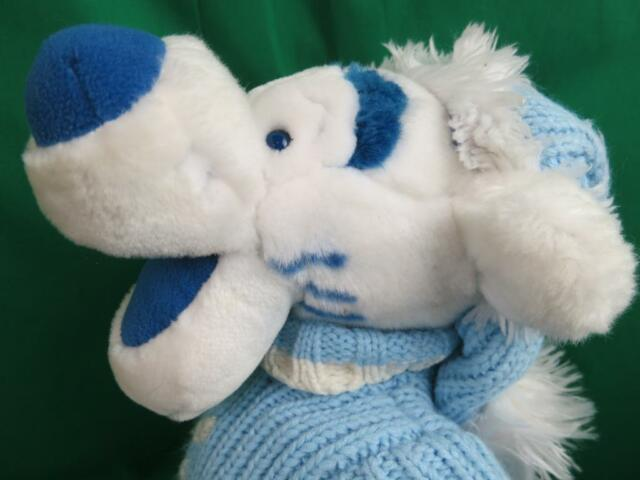 BIG CHRISTMAS WINTER SNOWFLAKE SWEATER BLUE WHITE WINNIE THE POOH TIGGER PLUSH