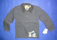 Wes & Willy Plaid Lined Button Up Barn Jacket Boys 6 Lightweight Blue/gray