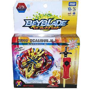 TAKARA-TOMY-Xeno-Xcalibur-Excalibur-MI-Burst-Beyblade-Starter-Sword-Launcher-B48