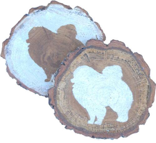 Pomeranian Coaster Reclaimed Wood