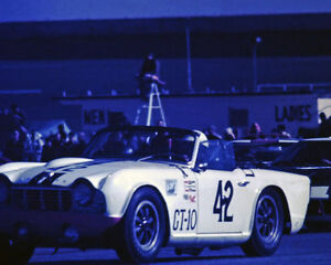 Vintage 8x10 1966 Daytona 24 Hrs Triumph Tr4 Auto Racing Photo
