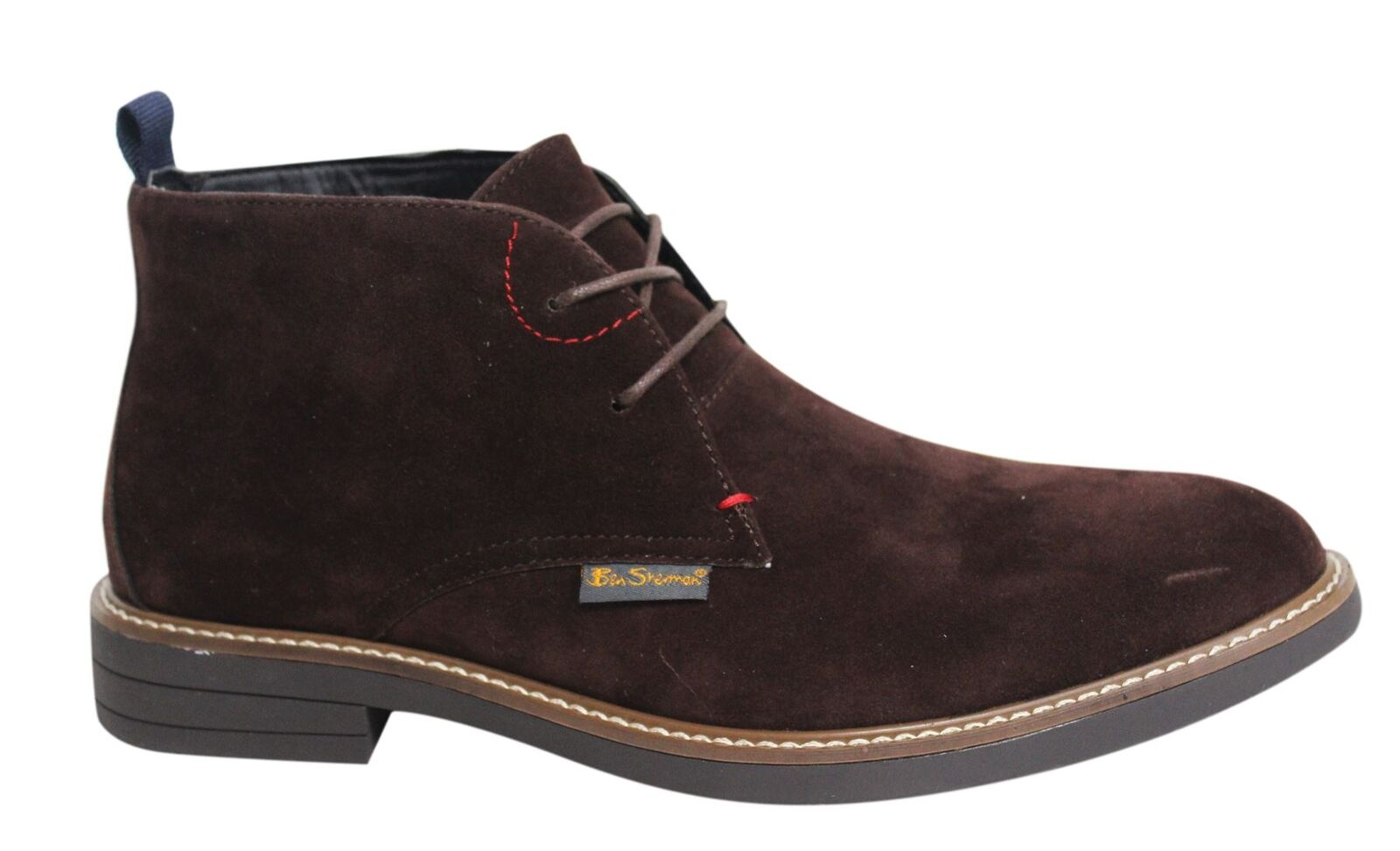 Ben Sherman Kington Lace Up Choc Suede Mens Chukka Boots BEN3163 016 U125