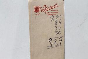 24079 Rechnungsblatt Bier Brauerei J. F. Schmidt Rodewisch ...
