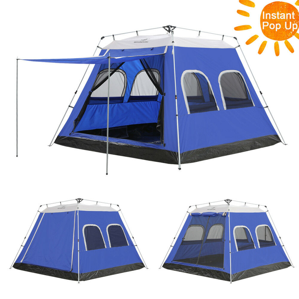 6 Person MoMänt Cabin Family Camping Tents Outdoor Hiking With Rain Fly 9 'x 9'