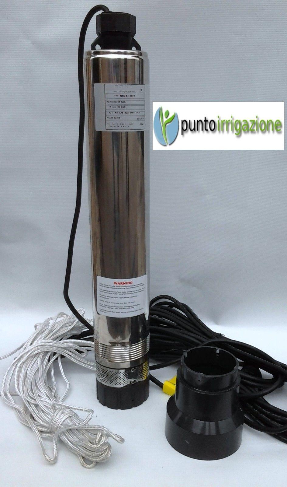 marchi di moda Elettropompa pompa sommersa per pozzi da 4  1 1 1 HP autoraffreddata a 7 giranti  negozio outlet