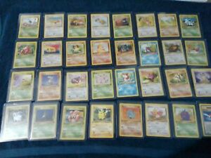 Complete Jungle Uncommon//Common Set 33-64 NM-Mint Non Holo Pokemon
