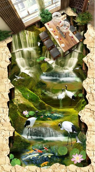 3D stone Nature water829 Floor WallPaper Murals Wall Print Decal 5D AJ WALLPAPER