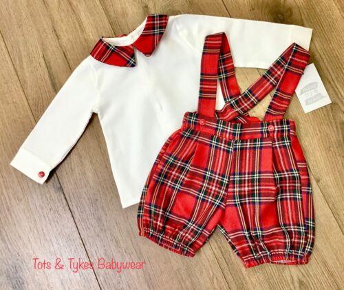 Boys Ninas Y Ninos Spanish designer AW '20 tartan shorts set new with tags