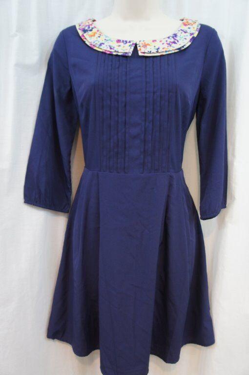 Jessica Simpson Dress Sz 5 6 bluee 3 4 Sleeve A Line Casual Summer Short Dress