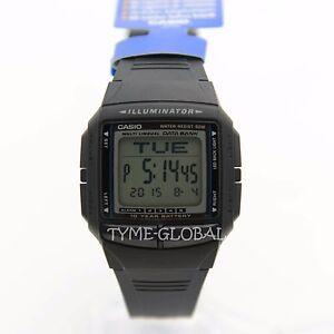 1be9cdf3fe4 Casio DB-36-1A Black Resin Digital Databank Stopwatch Watch DB-36-1 ...