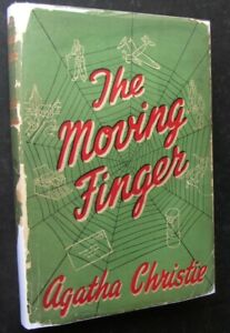 Agatha Christie, The Moving Finger, 2nd Impression 1946 in Original Dust Jacket