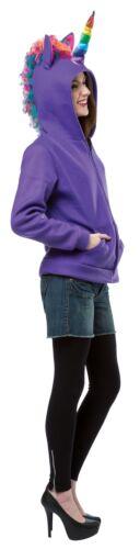 Hoodie Unicorn Purple Teen Adult Costume Halloween Fancy Dress Rasta Imposta
