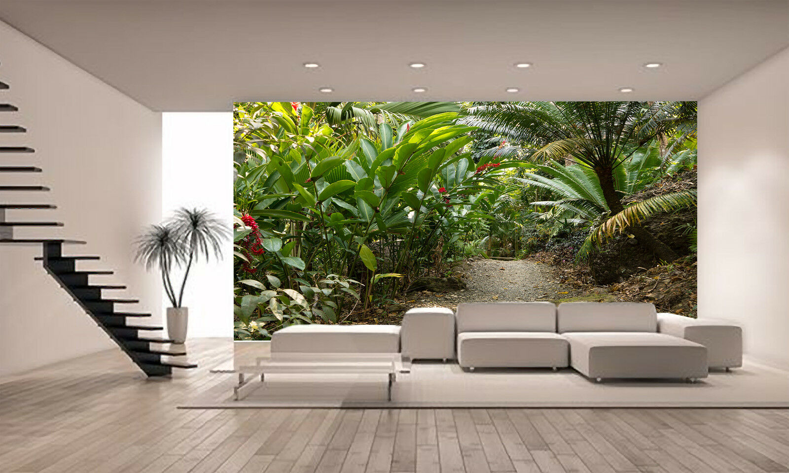 Pathway Through Jungle Wall Mural Photo Wallpaper GIANT DECOR Paper Poster