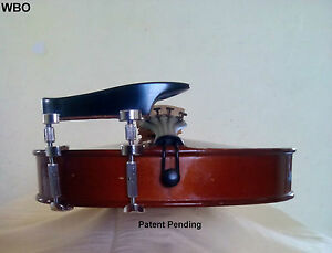 Violin Parts Height Adjustable Chinrest Teka Patent Hiclamps Exclusive Wbo Ebay