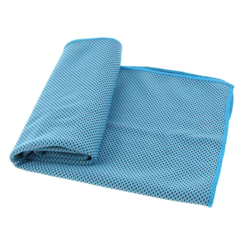 Ice Sports Towel Utility Instant Cooling Towel Heat Relief Neck Scarf Blue
