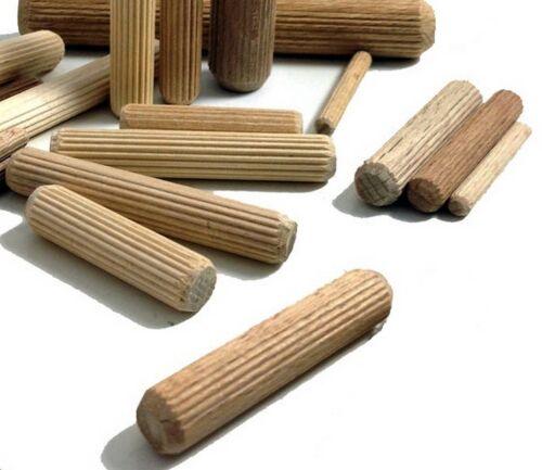 Nuevo 8 mm diámetro de 40 mm de largo de madera de haya clavijas para construir /& Craft FREEPOST