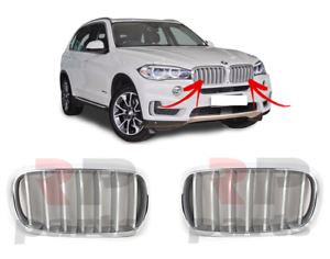 FOR-BMW-X5-SERIES-F15-2013-2018-NEW-FRONT-KIDNEY-GRILLE-CHROME-TITAN-PAIR-SET
