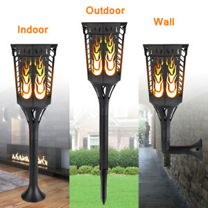 Solar garden lights path torches dancing flame lighting 96 led image is loading solar garden lights path torches dancing flame lighting aloadofball Image collections