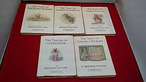 5x-Beatrix-Potter-HB-Books-1980s-Tale-of-Flopsy-Bunnies-Timmy-Tip-Toes-3