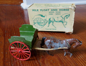 BRITAINS MILK FLOAT & HORSE No. 45F with Box - As Is