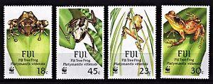 FIJI-1988-TREE-FROGS-AMPHIBIANS-REPTILES-FAUNA-4-MULTIPLE-STAMPS-MNH