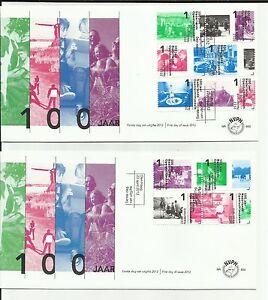 NEDERLAND 2012 - FDC E 650 A + B   -  100 jaar NEDERLANDS OPENLUCHTMUSEUM