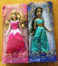 Disney Store Exclusive Princess Dolls, Aurora and Jasmine - 12'' w FREE SHIPPING