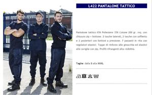 PANTALONE TATTICO ADDETTO ALLA SICUREZZA VIGILANZA GUARDIANO L422 GP ITALIA