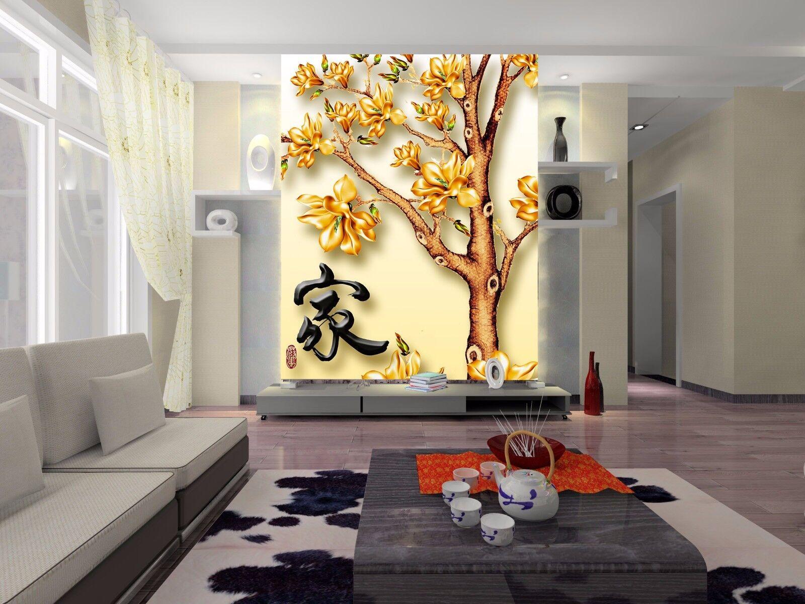 3D Poesielied Baum 754 Tapete Wandgemälde Tapete Tapeten Bild Familie DE Summer
