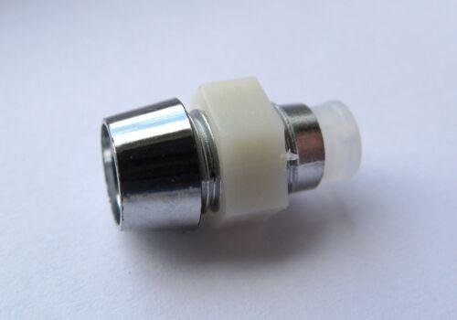 5 mm cromo soporte de plástico LED Diodo plata Tuerca Montaje Bisel caso Calidad 1-50 piezas