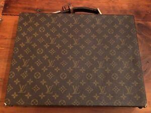 c46052dae97c Image is loading Authentic-Vintage-Louis-Vuitton-Monogram-Hard-Briefcase