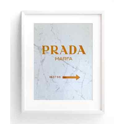 Copper Foil Print A4 - PRADA MARFA  PREMIUM QUALITY